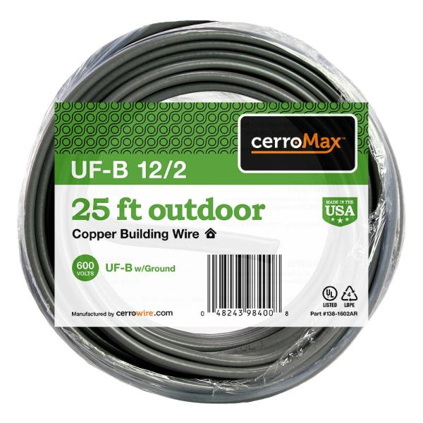 25 ft. 12/2 UF-B Cable