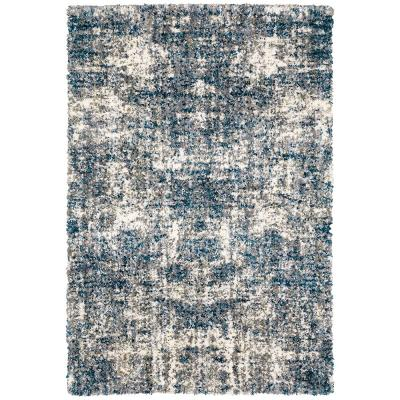 Nordic Blue 4 ft. x 6 ft. Abstract Shag Area Rug