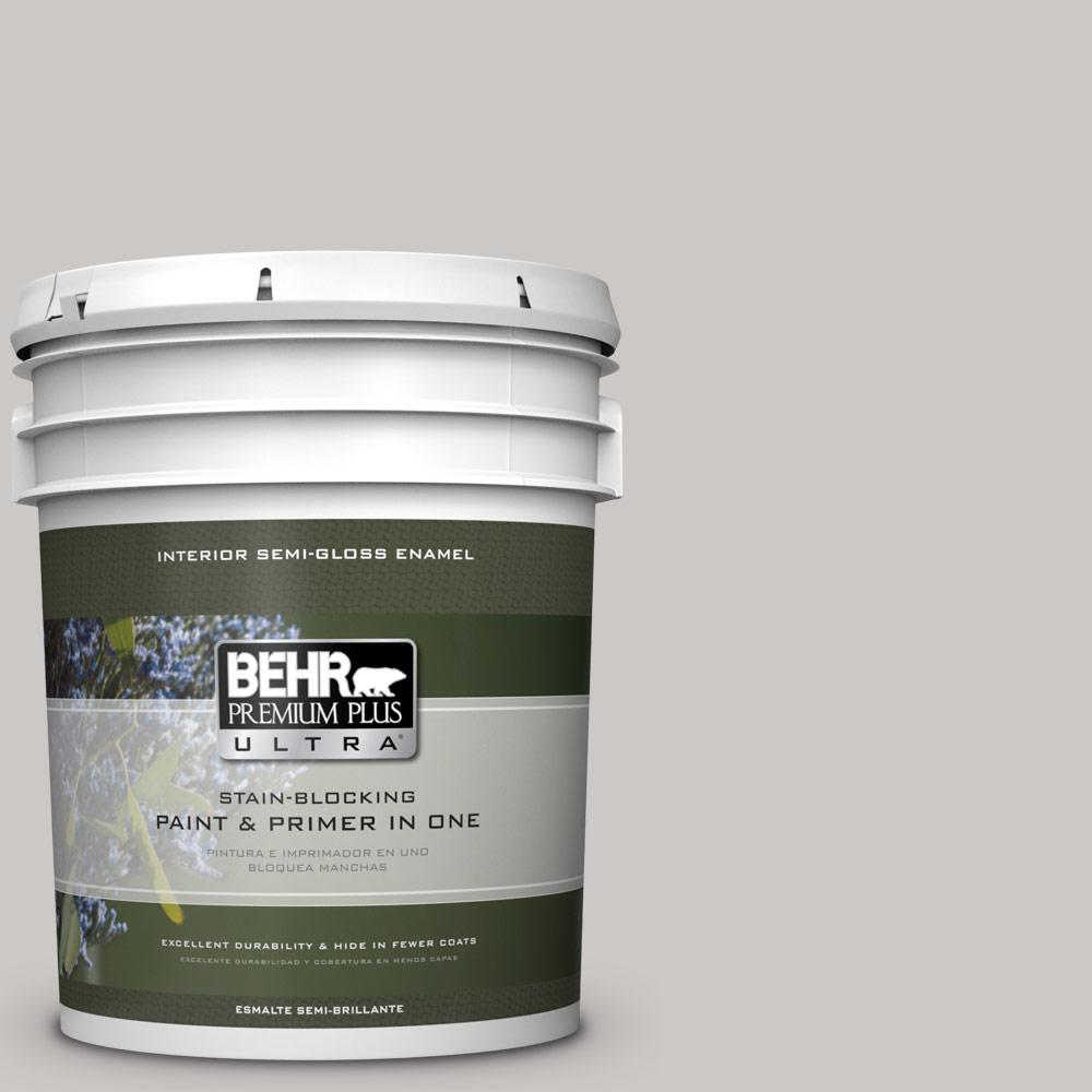 Best Sheen Of Paint For Kitchen Cabinets: BEHR Premium Plus Ultra 5 Gal. #PPU26-09 Graycloth Semi