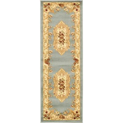 Versailles Henry Light Blue 2' 2 x 6' 0 Runner Rug