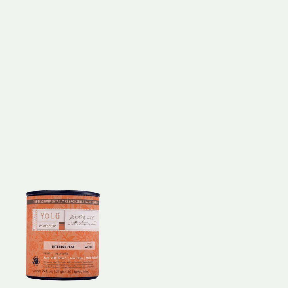 YOLO Colorhouse 1-Qt. Imagine .05 Flat Interior Paint-DISCONTINUED