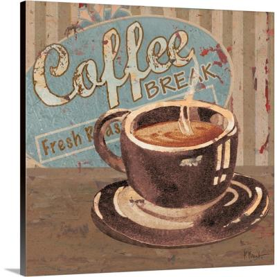 """""""Coffee Brew Sign IV"""" by Paul Brent Canvas Wall Art"""