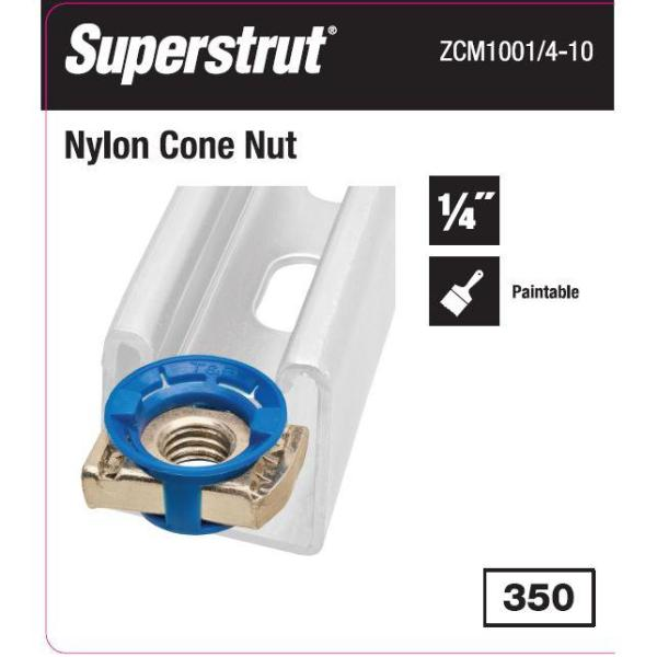 Channel Nut Gold 1//4 in