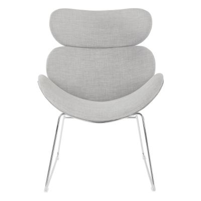 Jupiter Dove Chair with Chrome Base