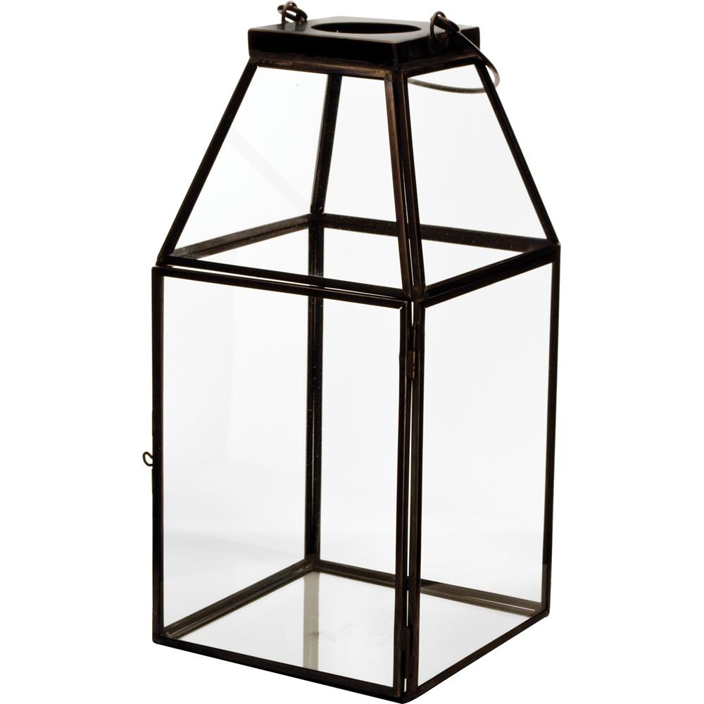 Pride Garden Products Mika 4 5 In W X 10 In H Black Faceted Glass
