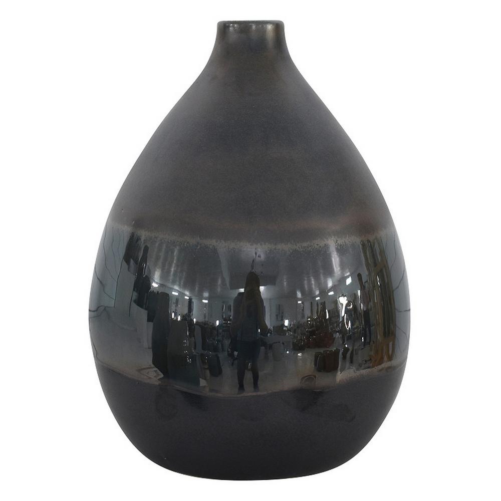 11.75 in. Bronze Ceramic Vase