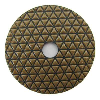 4 in. #800 Dry Diamond Polishing Grit Pad for Stone