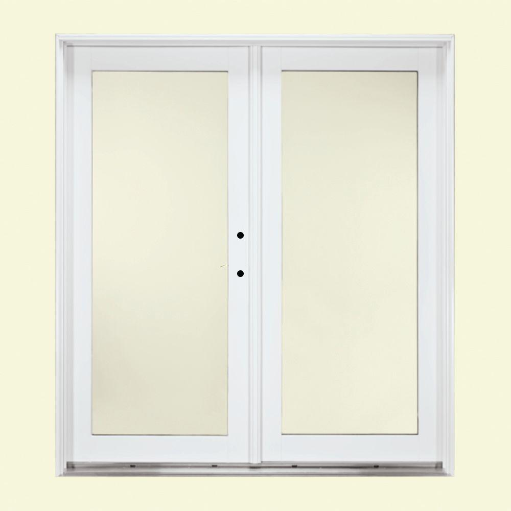 Jeld wen 72 in x 80 in white left hand inswing french for Outswing french doors home depot