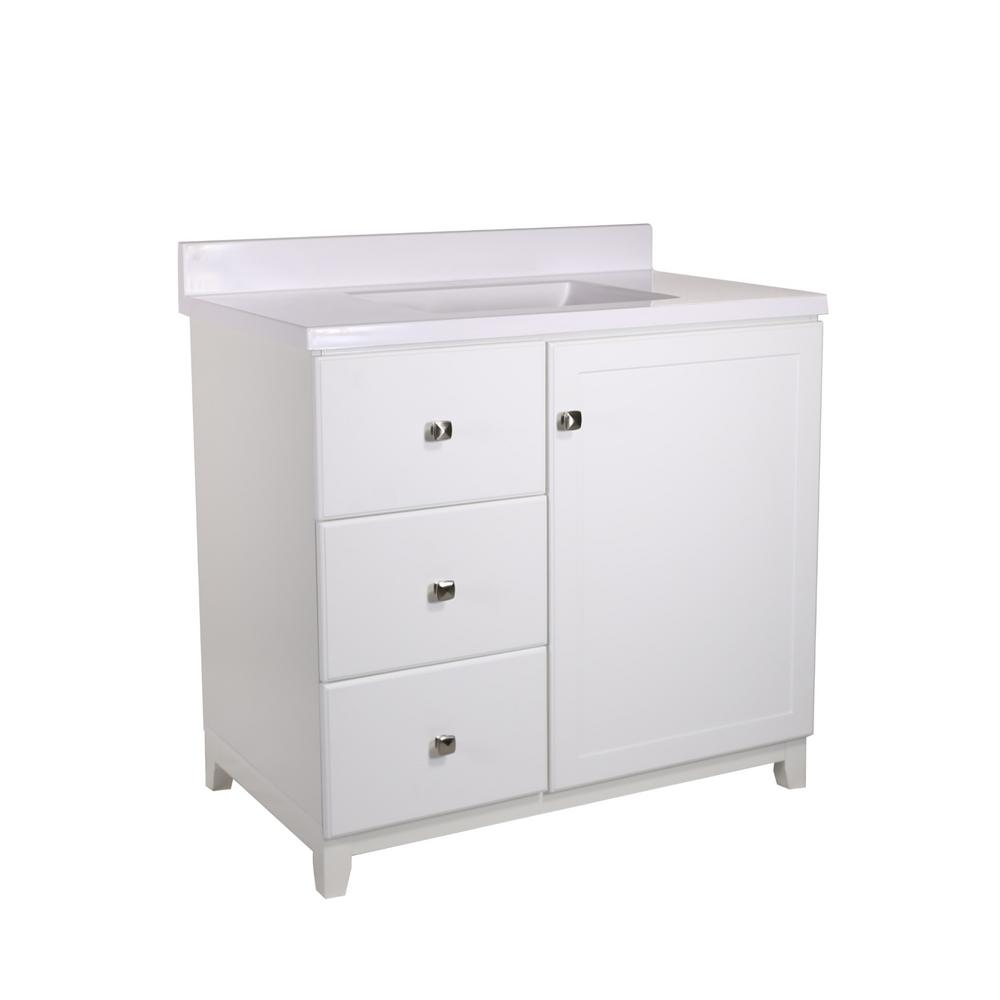 Design House Shorewood 36 In W X 21 In D 1 Dr 2 Drawer