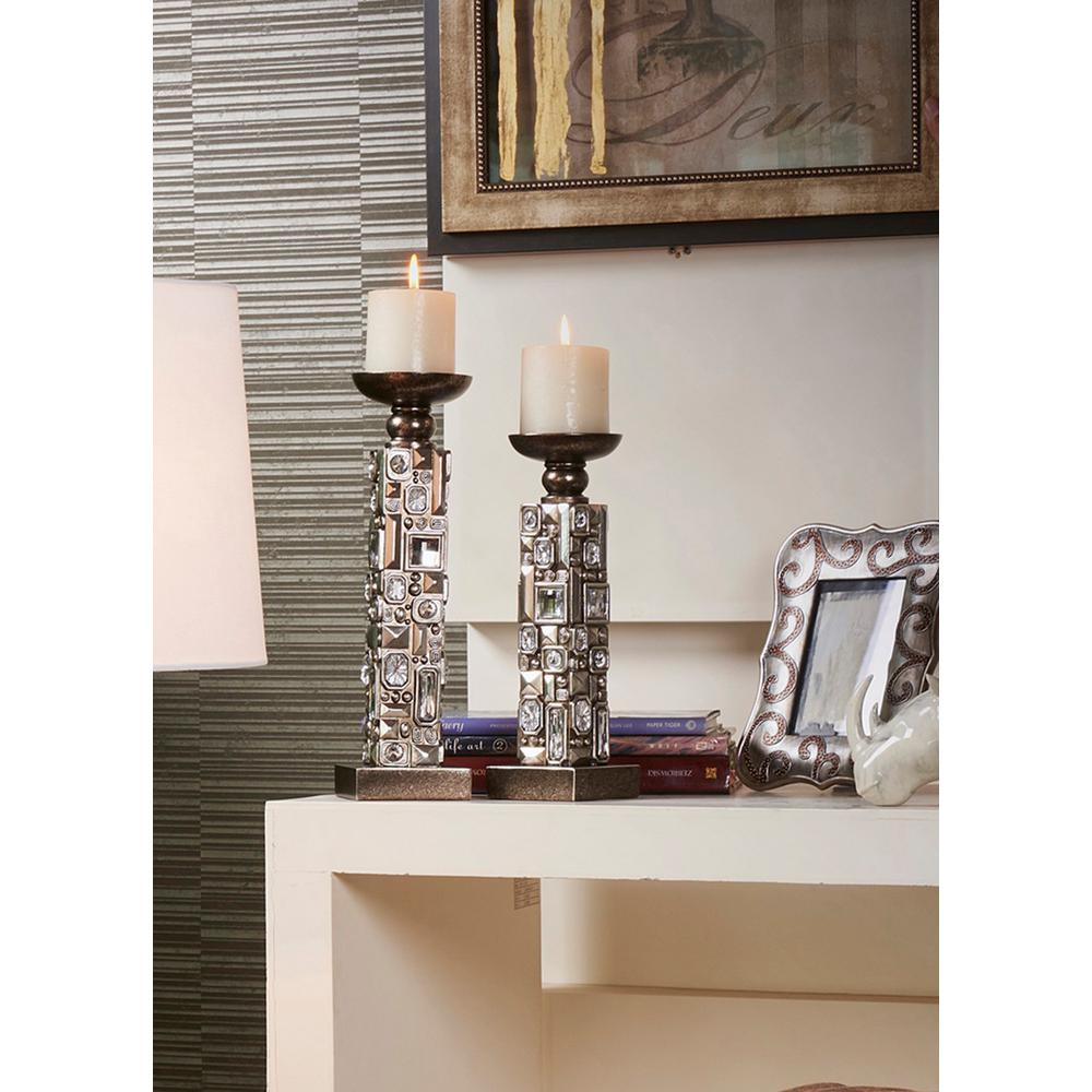 12 in., 14 in. Sierra Candle Holder Set