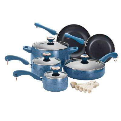 Signature Porcelain 15-Piece Blueberry Cookware Set with Lids