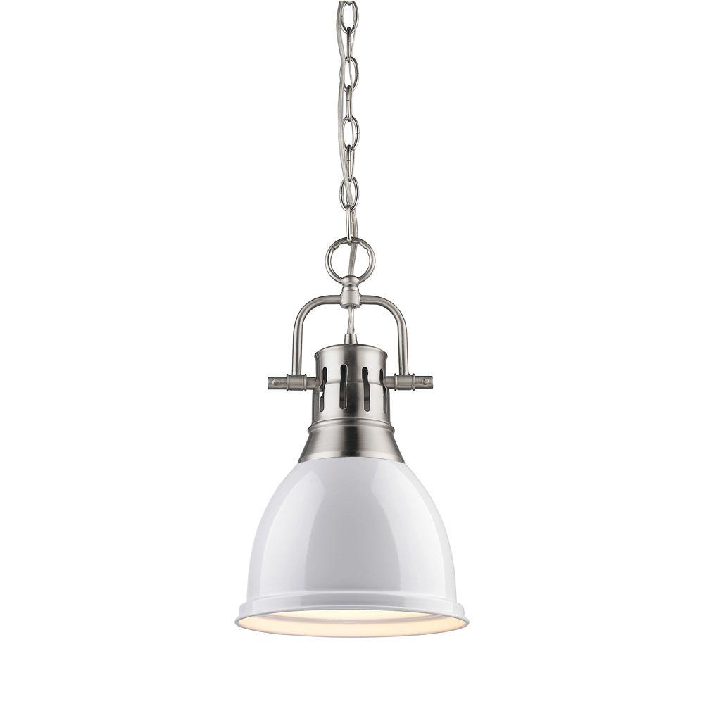null Wyman Collection 1-Light Pewter Mini Pendant