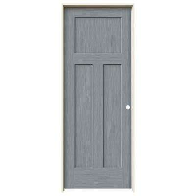 30 in. x 80 in. Craftsman Stone Stain Left-Hand Solid Core Molded Composite MDF Single Prehung Interior Door