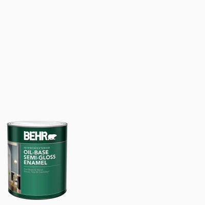 1 qt. White Oil-Base Semi-Gloss Enamel Interior/Exterior Paint