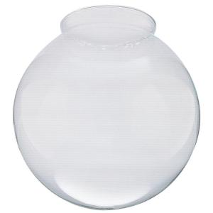 6 in. Handblown Gloss Clear Lustre Globe with 3-1/4 in. Fitter