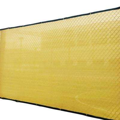 6 ft. x 50 ft. Sand 150 GSM HDPE Privacy/Wind Fence Screen Garden Fence