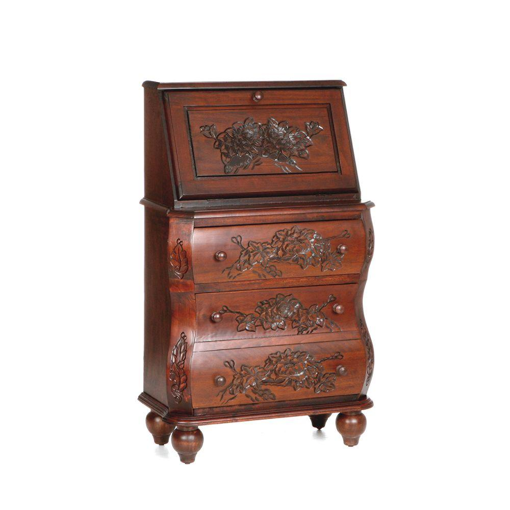 Home Decorators Collection 2-Drawer Walnut File Desk-DISCONTINUED