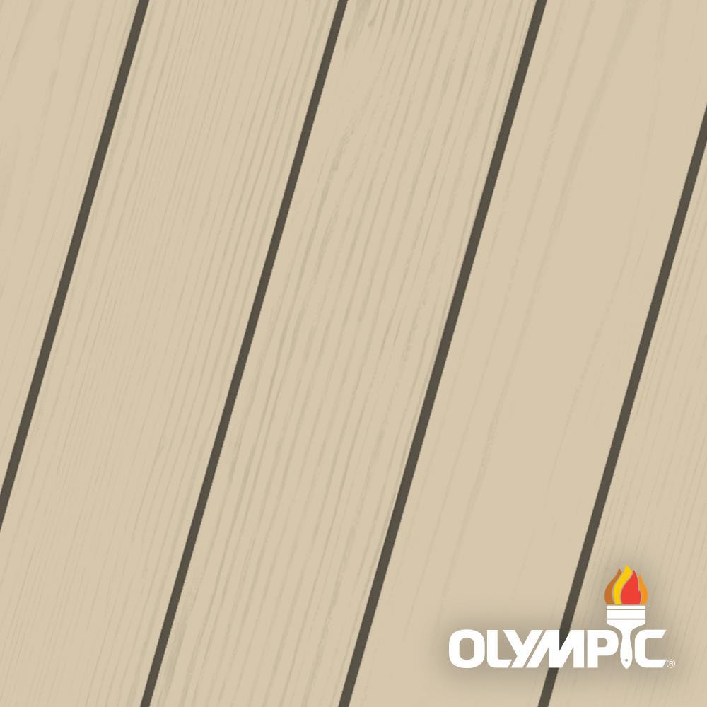 Olympic Maximum 1-qt. Beige Gray Solid Color Exterior Stain and Sealant in One Low VOC