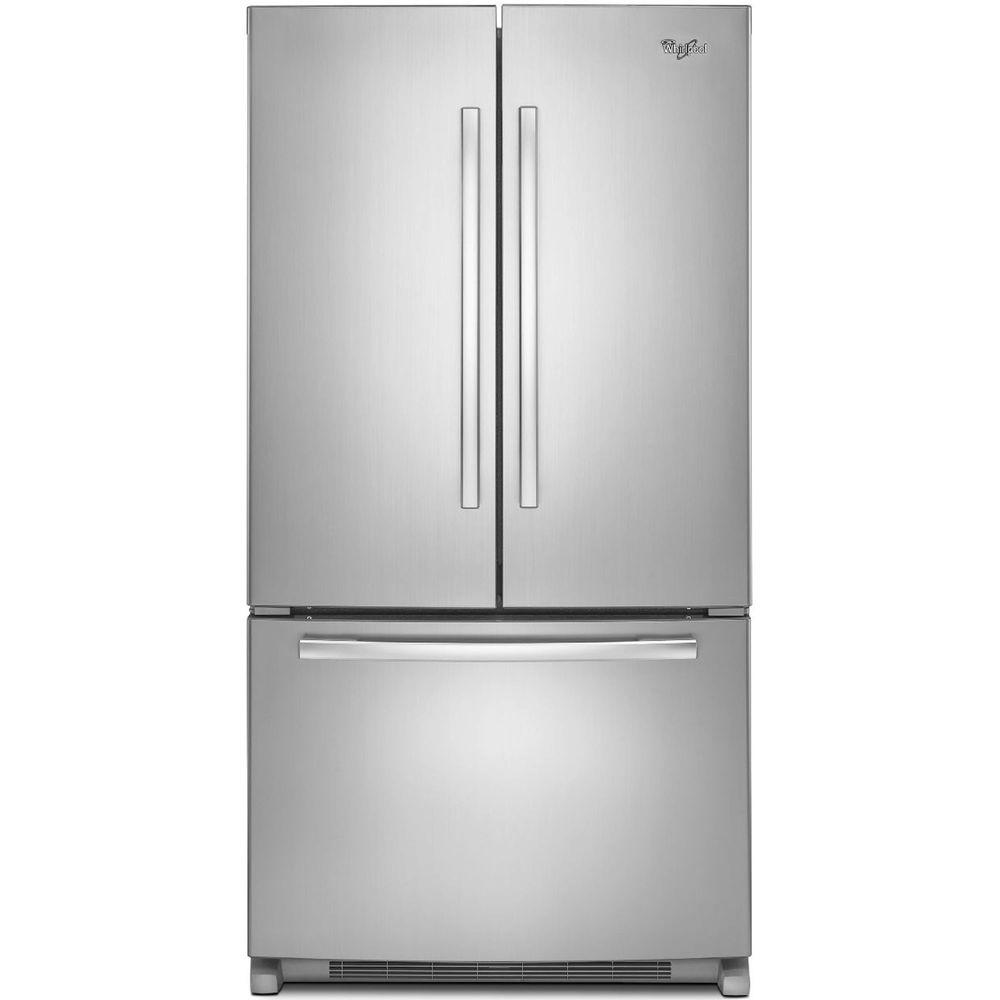 Awesome Whirlpool Gold French Door Refrigerator Reviews Part - 13: Whirlpool 36 In. W 25.2 Cu. Ft. French Door Refrigerator In Monochromatic  Stainless Steel-WRF535SWBM - The Home Depot