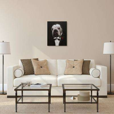 "20 in. x 16 in. Pets Rock ""The Dogfather"" Graphic Art on Wrapped Canvas Wall Art"