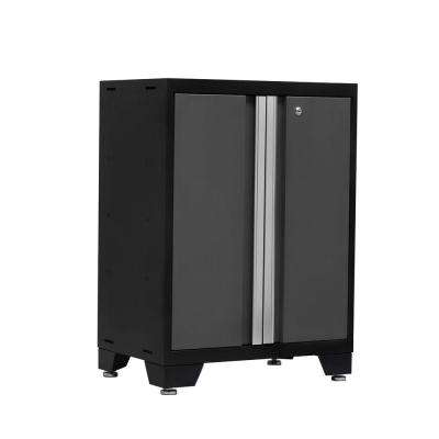Bold 3 Series 35 in. H x 24 in. W x 16 in. D 24-Gauge Welded Steel 2-Door Base Cabinet in Gray