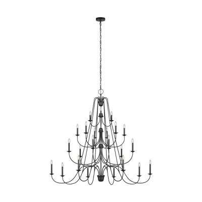 Boughton 24-Light Antique Forged Iron Chandelier