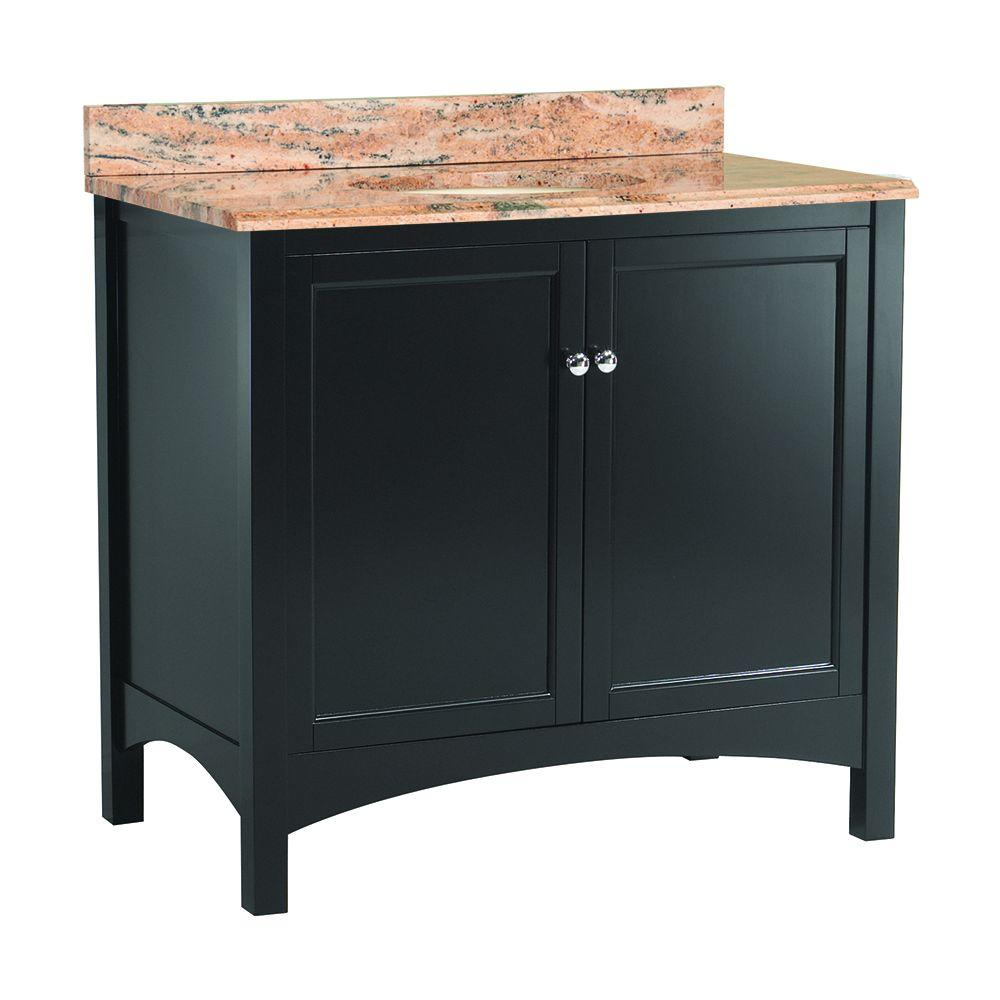 Home Decorators Collection Haven 37 in. W x 22 in. D Vanity in Espresso with Vanity Top and Stone Effects in Bordeaux was $899.0 now $629.3 (30.0% off)