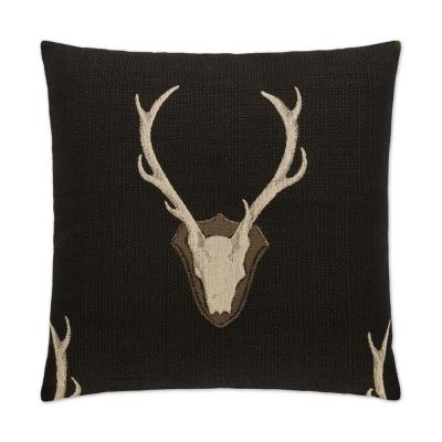 Uncle Black Geometric Down 24 in. x 24 in. Throw Pillow