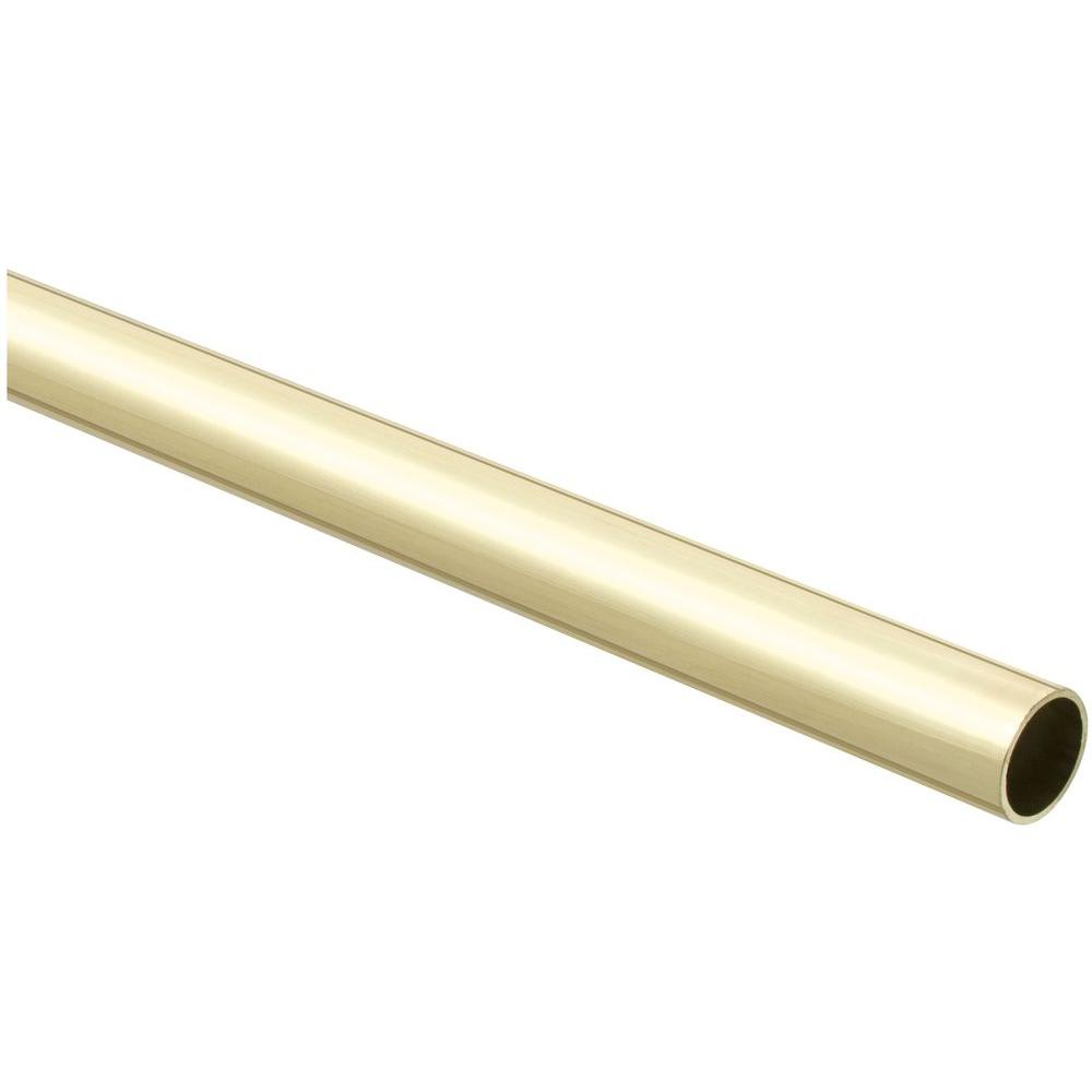 Stanley National Hardware 8 Ft. Closet Rod In Polished Brass