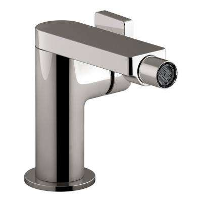 Composed Single-Handle Bidet Faucet with Drain in Titanium