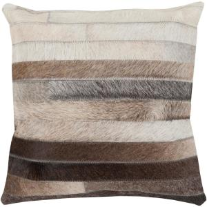 Cela Black Geometric Polyester 22 in. x 22 in. Throw Pillow
