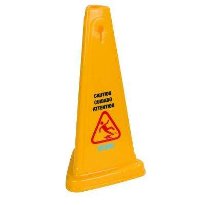 27 in. English and Spanish Caution Cone (Case of 3)