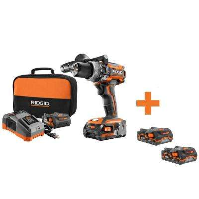 18-Volt Brushless Cordless 1/2 in. Compact Hammer Drill Kit with Bonus 18-Volt 1.5 Ah Lithium-Ion Battery (2-Pack)