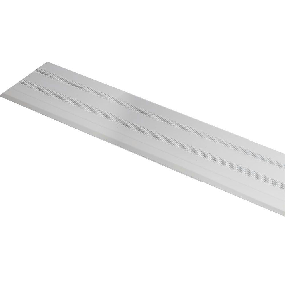 6 in. x 3 ft. Diamond Gutter Shield White Aluminum