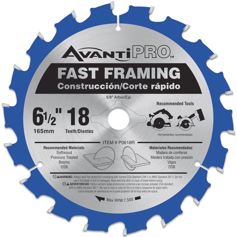 6-1/2 in. x 18-Teeth Fast Framing Saw Blade