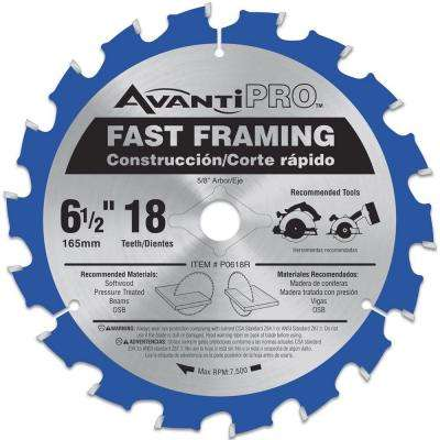 6-1/2 in. x 18-Tooth Fast Framing Saw Blade