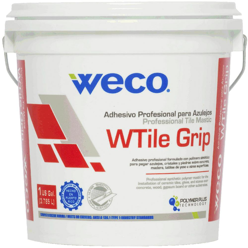 W-Tile Grip Mastic 1 Gal. Synthetic Organic Adhesive