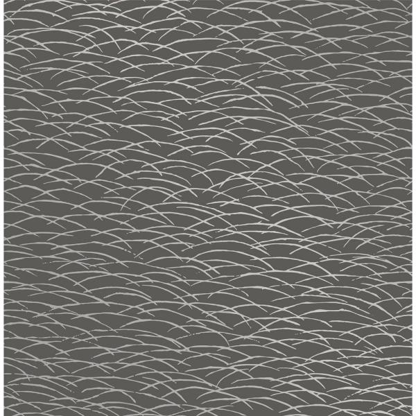 Arcata, Hono Taupe Abstract Wave Paper Strippable Wallpaper Roll (Covers 56.4 sq. ft.)