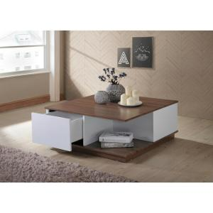 Deals on Ottomanson Carter Walnut/White Coffee Table CT400