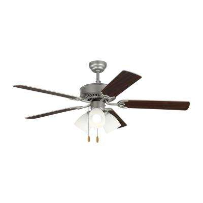 Haven LED 3 52 in. Indoor Brushed Pewter Ceiling Fan with Light Kit