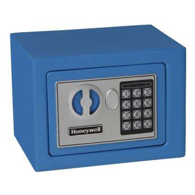 0.17 cu. ft. All Steel Color Security Safe with Digital Lock, Blue