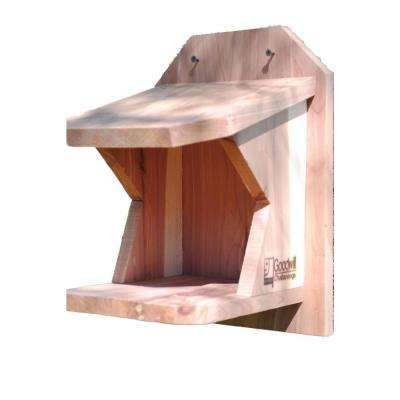 Robin Shelf Cedar Bird House