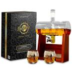 37 oz. Glass Wine and Whiskey Decanter Aerator Set with Whiskey Glasses