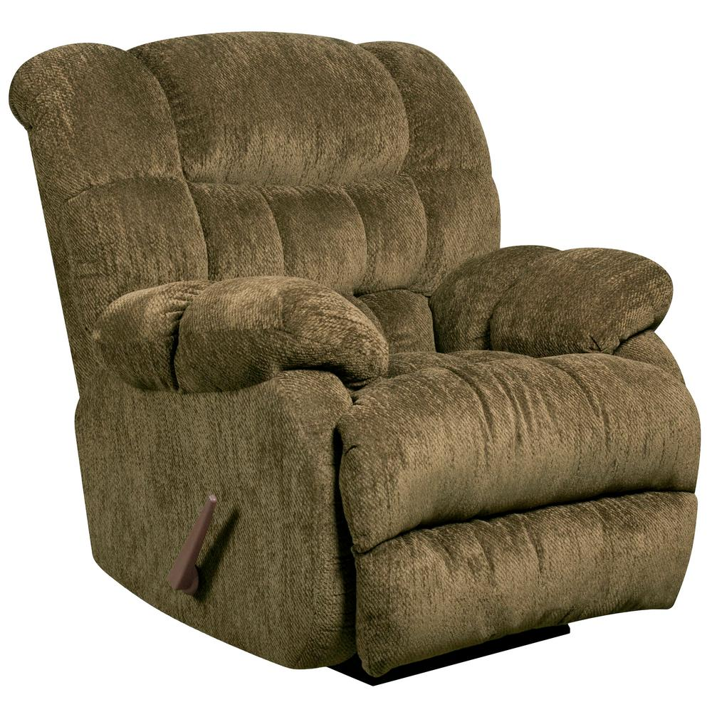 Flash Furniture Contemporary Columbia Mushroom Microfiber Rocker Recliner