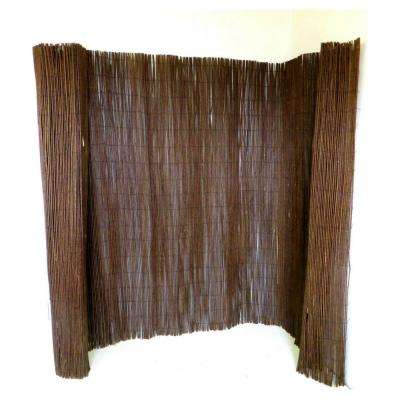 8 ft. L x 6 ft. H Willow Screen Fence
