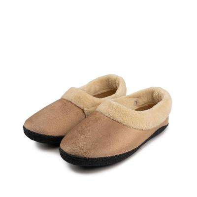 Memory Foam Heated Slipper With Rechargeable Battery - L/XL - Tan Size 10
