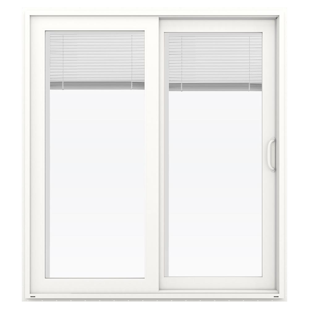 Jeld Wen 72 In X 80 In V 4500 White Prehung Right Hand Sliding French Vinyl Patio Door With