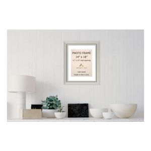 Amanti Art Romano 11 inch x 14 inch White Matted Silver Picture Frame by Amanti Art