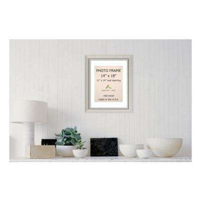 Romano 11 in. x 14 in. White Matted Silver Picture Frame