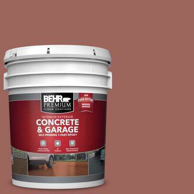 5 gal. #ECC-34-3 Terra Cotta Sun Self-Priming 1-Part Epoxy Satin Interior/Exterior Concrete and Garage Floor Paint